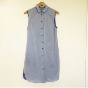T by Alexander Wang Blue Shirt Dress Size XS